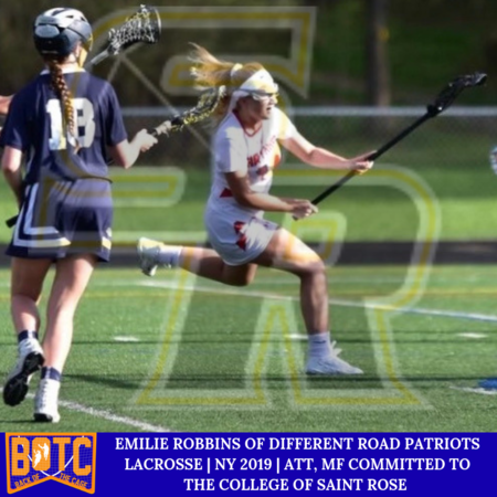 EMILIE ROBBINS OF DIFFERENT ROAD PATRIOTS LACROSSE | NY 2019 | ATT, MID COMMITTED TO THE COLLEGE OF SAINT ROSE.PNG