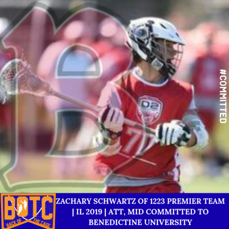 Zachary Schwartz of 1223 Premier Lacrosse | IL 2019 | Att, Mid Committed to Benedictine University.png
